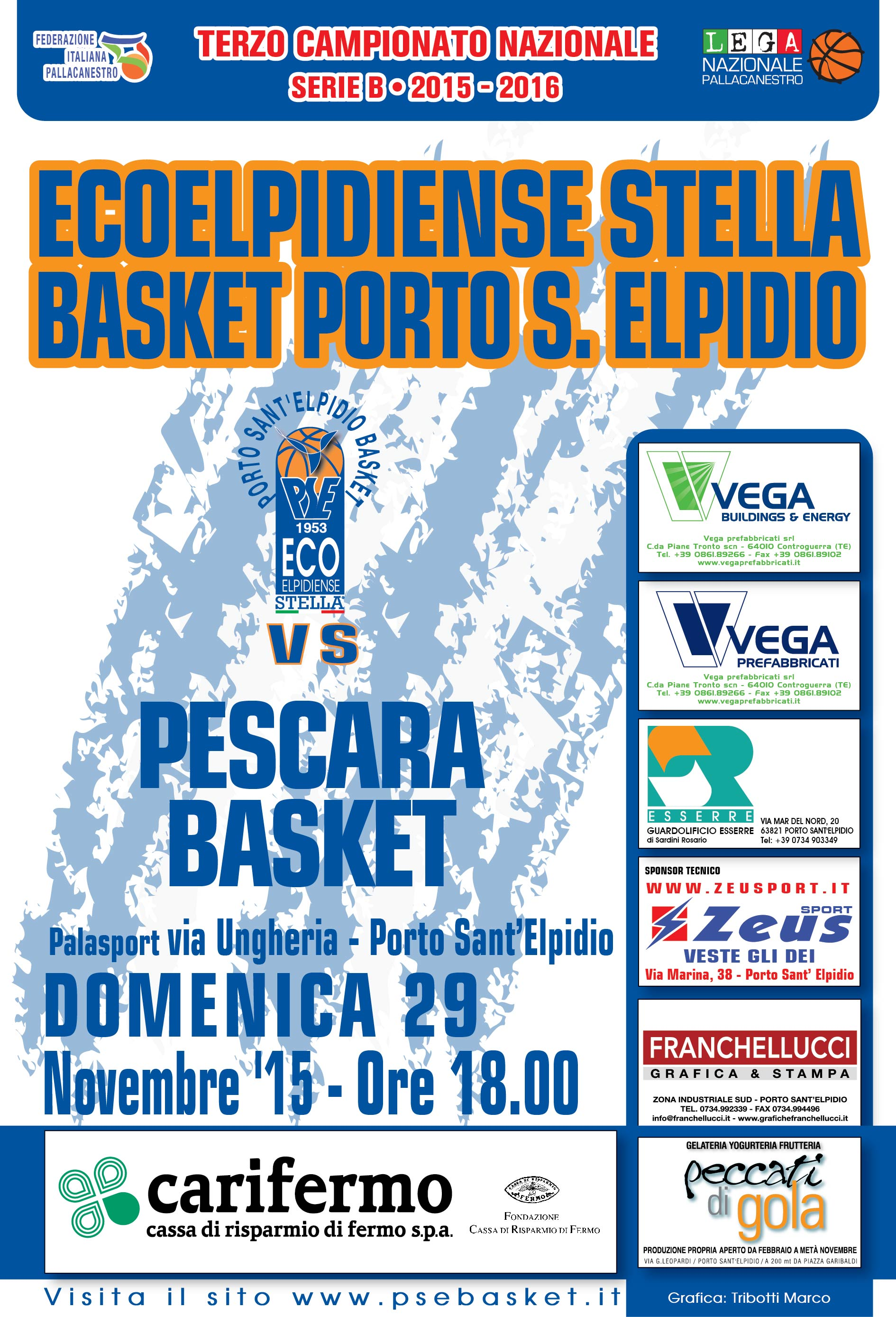 Ecoelpidiense Stella PSE – Pescara, TUTTI AL PALAS