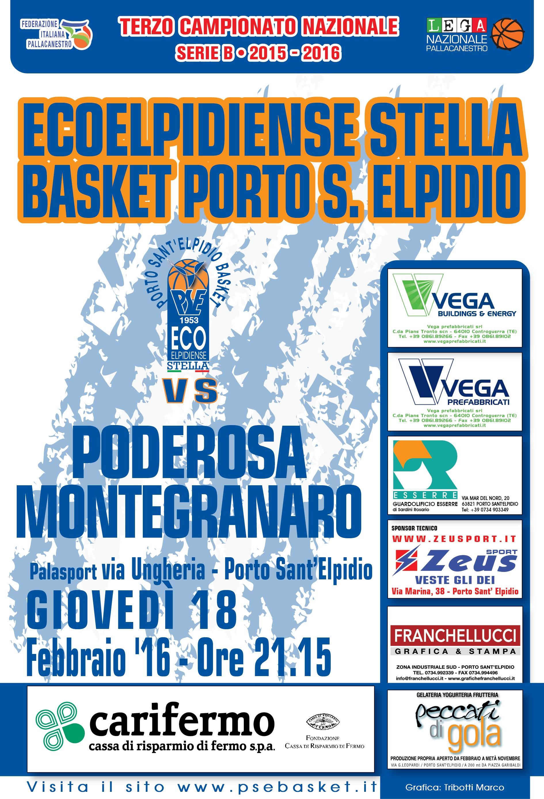 Ecoelpidiense Stella PSE - Poderosa Montegranaro sarà giornata biancoazzurra