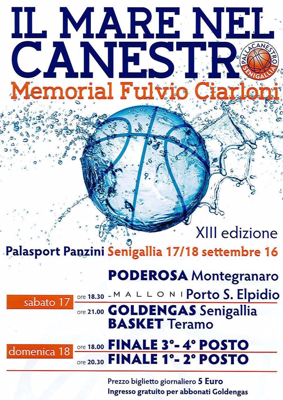 """""""Il Mare nel Canestro"""", domani Malloni P.S.Elpidio-Poderosa Montegranaro"""
