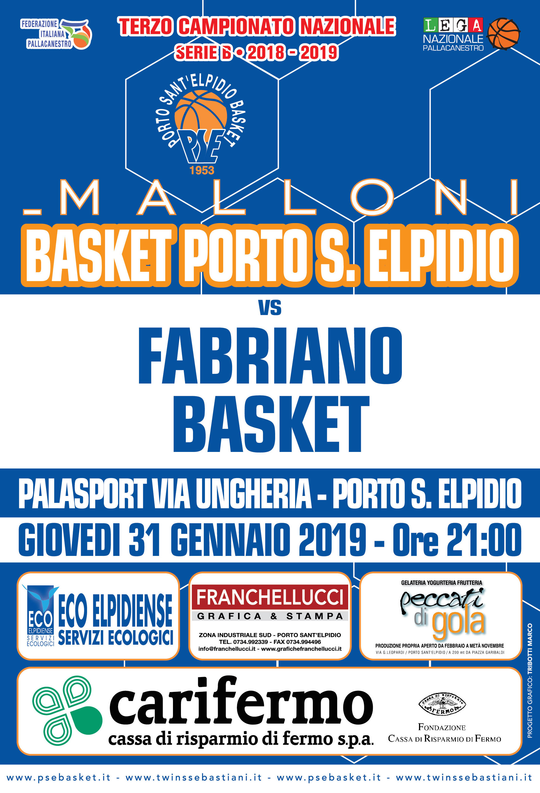 Malloni PSE-Fabriano: disposizioni ingresso al Palas