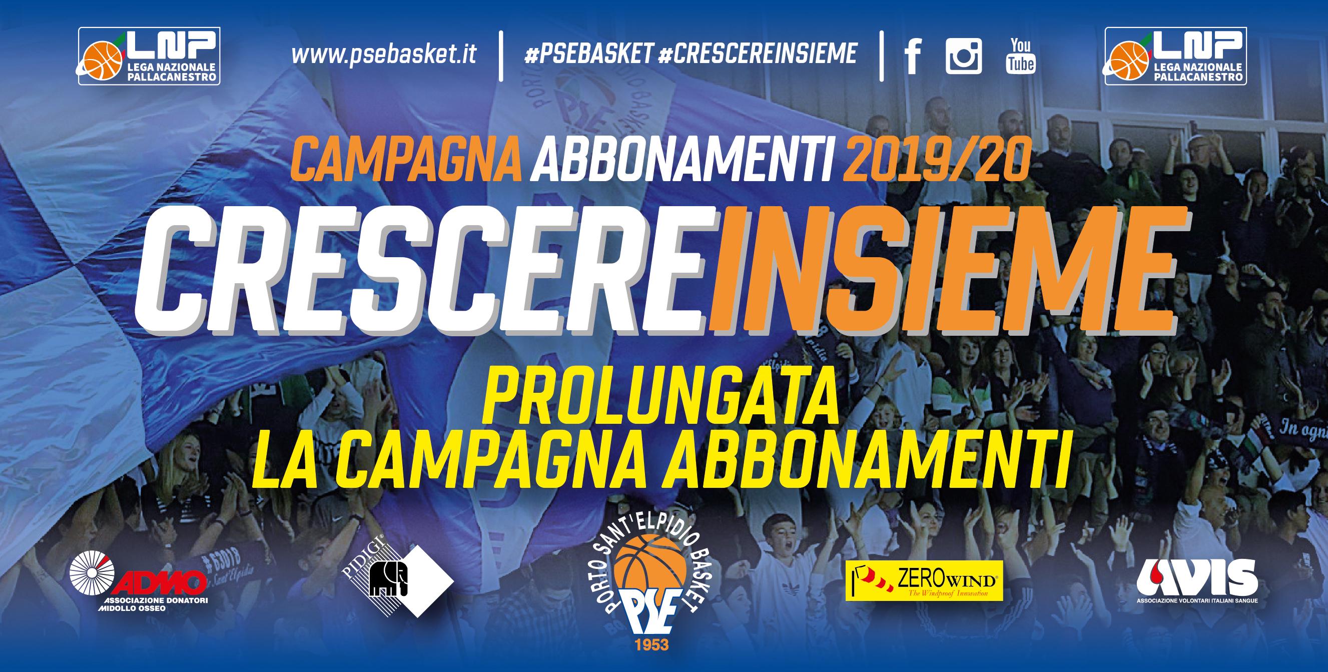 Campagna abbonamenti prolungata fino al 17 Novembre