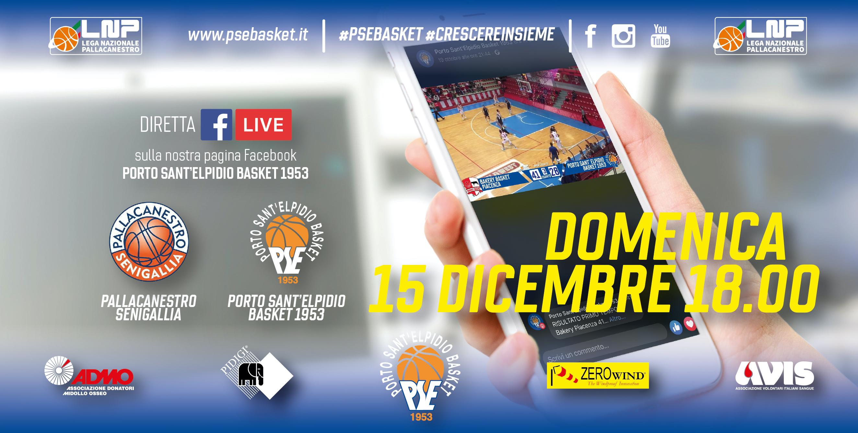 Senigallia-P.S.Elpidio in diretta su Facebook