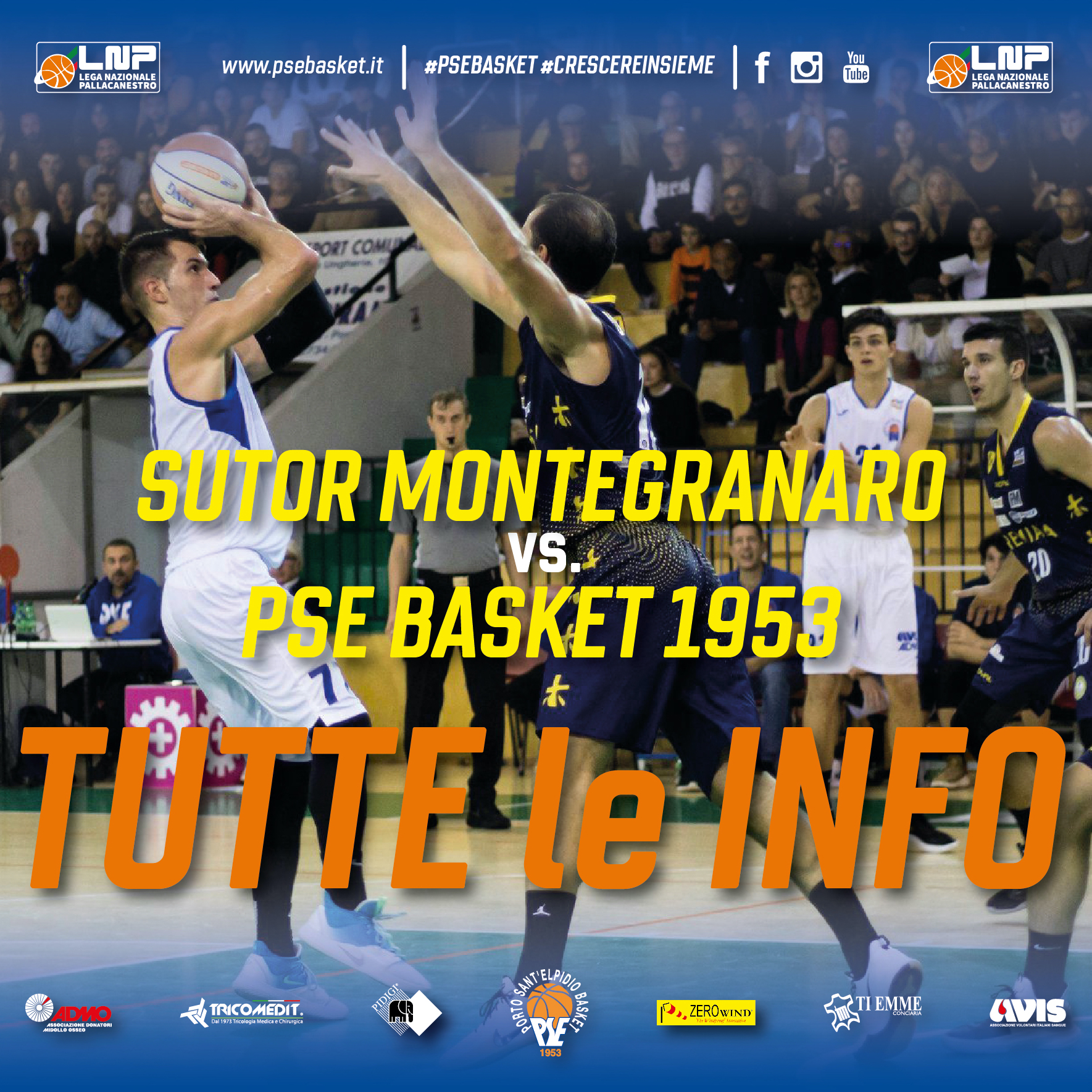 Prevendite derby Sutor Montegranaro-P.S.Elpidio Basket
