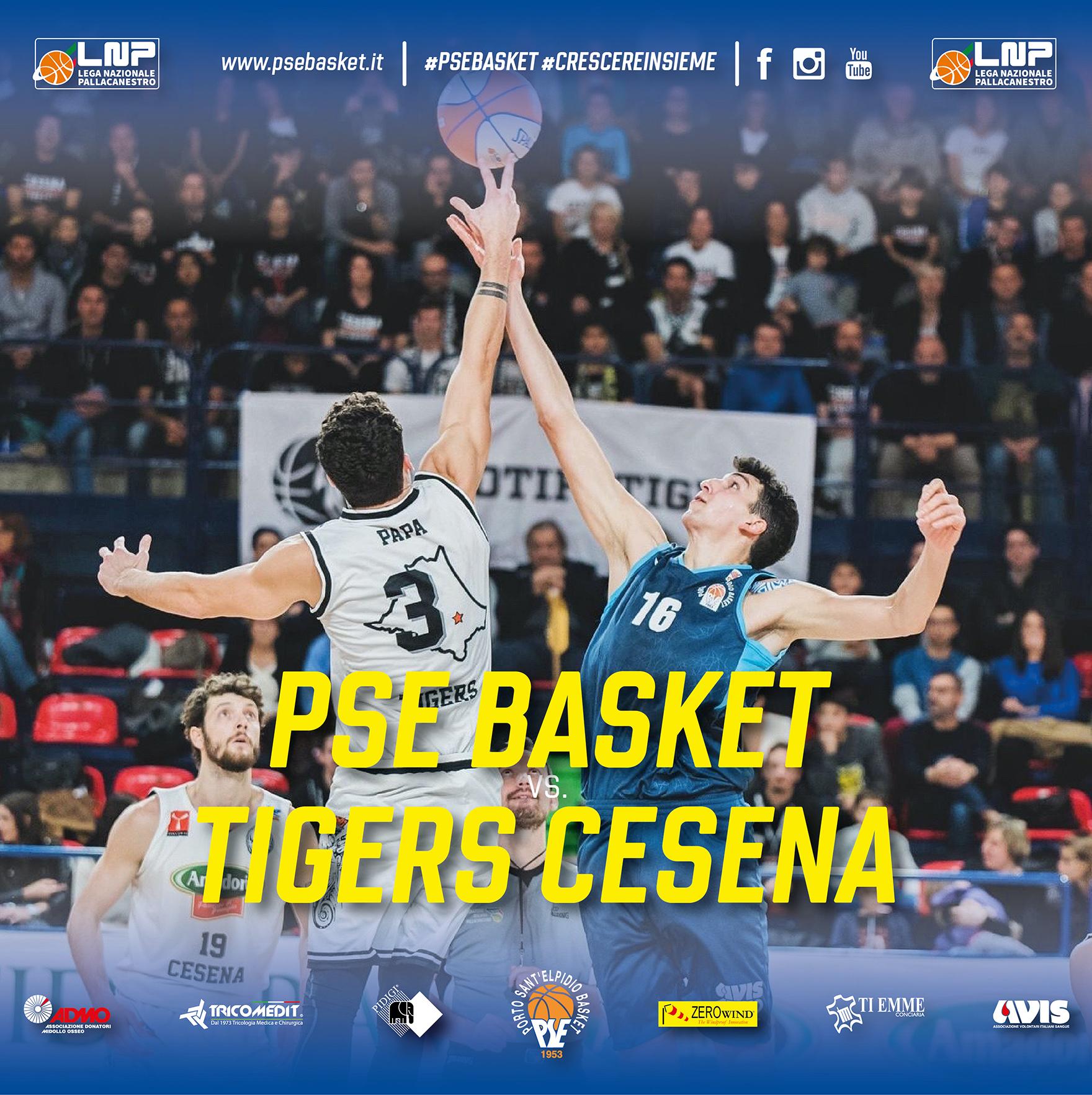 P.S.Elpidio Basket-Tigers Cesena, domenica palla a due ore 18.30